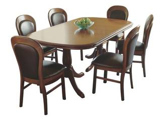 Famous Classic Kauri Twin Pedestal Extension Dining Table For Jazmin Pedestal Dining Tables (View 14 of 20)