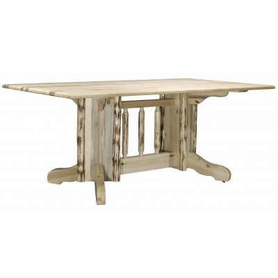 Famous Sevinc Pedestal Dining Tables With Montana Collection Skip Peeled Double Pedestal Dining (View 16 of 20)