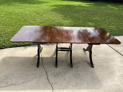 Fashionable Jazmin Pedestal Dining Tables Inside 4 Pedestal 3 Leaf Drop Leaf Duncan Phyfe Dining Table (View 19 of 20)