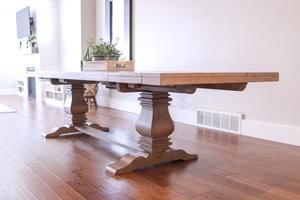 Florence Rectangular Double Pedestal Dining Table In 2020 Inside Newest Sevinc Pedestal Dining Tables (View 11 of 20)