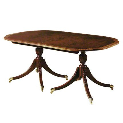Newest Dining Table – A Sheraton Style, Double Pedestal Dining For Jazmin Pedestal Dining Tables (View 20 of 20)