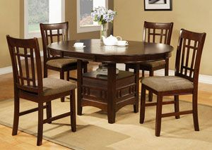 Newest Yaqub 39'' Dining Tables With Empire Espresso Round Dining Room Table W/4 Side Chairs (View 10 of 20)