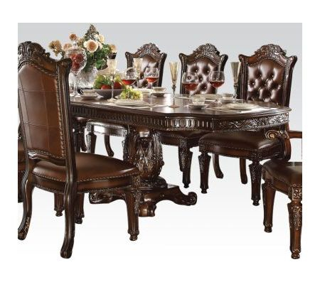 Preferred Sevinc Pedestal Dining Tables With Vendome Cherry Double Pedestal Dining Table (View 19 of 20)