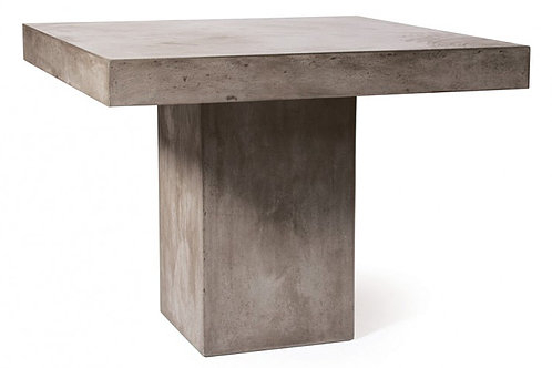 """Recent Concrete Dining Table With Pedestal Base 39""""x39"""" (View 20 of 20)"""
