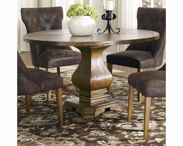 Sevinc Pedestal Dining Tables Throughout Preferred Coaster Parkins Dining Table W/ Shaped Pedestal Base Co  (View 18 of 20)