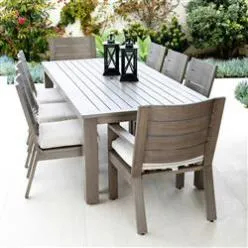 Sunset West Laguna Modern Brown Aluminum Outdoor Dining For Well Known  (View 4 of 20)
