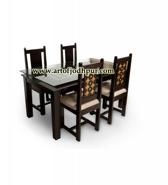 Trendy Yaqub 39'' Dining Tables Pertaining To Buy Brass Fitted Jodhpur Handicraft Dining Sets – Used (View 3 of 20)