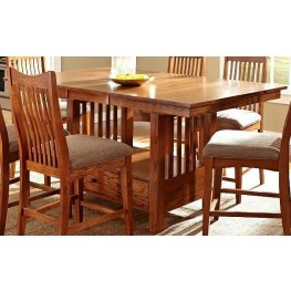 """Well Known Laurelhurst 72"""" Mission Oak Extendable Rectangular With 72"""" L Breakroom Tables And Chair Set (View 8 of 20)"""
