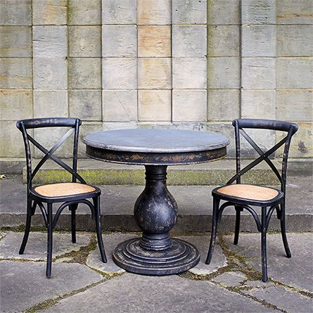 """Yaqub 39'' Dining Tables Inside Most Popular Luca 39"""" Round Pedestal Dining Table With Bluestone Top In (View 2 of 20)"""