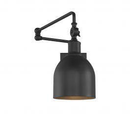 1 Light Matte Black Wall Sconce For Bensonhurst Matt Black Wall Lanterns (View 13 of 20)