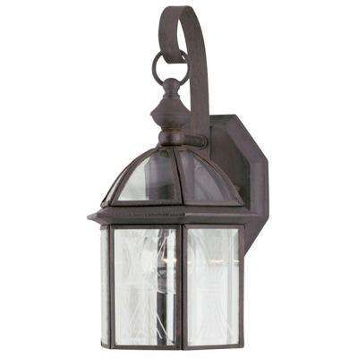 1 Light Textured Rust Patina On Solid Brass Steel Exterior Inside Faunce Beveled Glass Outdoor Wall Lanterns (View 5 of 20)