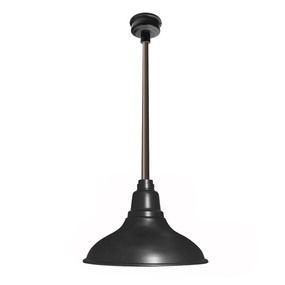 """12"""" Dahlia Led Pendant Barn Light In Matte Black With With Rickey Black Outdoor Barn Lights (View 18 of 20)"""