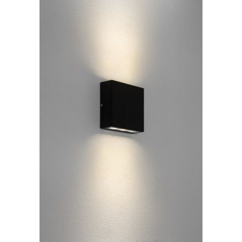 1331002 Elis Led Outdoor Wall Fitting In Black Finish Regarding Ciotti Black Outdoor Wall Lanterns (View 18 of 20)