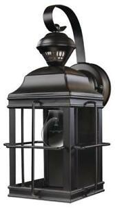 "14"" Black Outdoor Wall Light 100w Motion Sensor Security Within Garneau Black Wall Lanterns (View 12 of 20)"