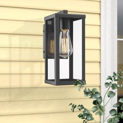 "17 Stories Turcot 12"" H Hardwired Outdoor Wall Lantern Regarding Turcot Wall Lanterns (View 1 of 11)"