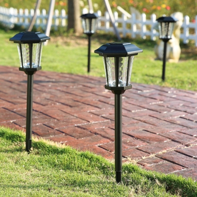 25'' H Large Outdoor Solar Led Pathway Landscape Lights In With Roden Black 3 Bulb Outdoor Wall Lanterns (View 8 of 20)