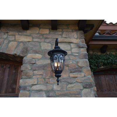 3 Lights – Outdoor Sconces – Outdoor Wall Lighting – The Throughout Brierly Oil Rubbed Bronze/black Outdoor Wall Lanterns (View 15 of 20)