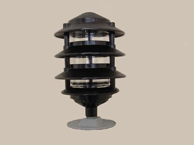 4 Tier Pagoda Lights Black For A19 60w 120v Lightbulb Good Throughout Roden Black 3 Bulb Outdoor Wall Lanterns (View 7 of 20)