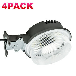 4pack Led Barn Yard Light 75w Dusk To Dawn Security With Regard To Gunnora Outdoor Barn Lights With Dusk To Dawn (View 18 of 20)