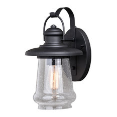 50 Most Popular Dusk To Dawn Outdoor Wall Lights And With Needham Dark Bronze Seeded Glass Outdoor Lights (View 3 of 20)