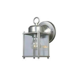 """8"""" Steel Porch Light Pewter Outdoor Wall Mount Lantern With Regard To Powell Beveled Glass Outdoor Wall Lanterns (View 20 of 20)"""