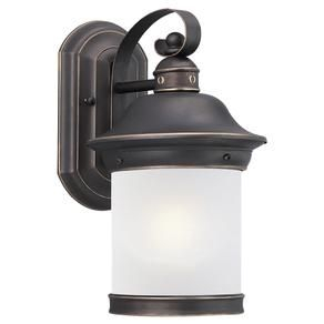 89181bl 71,one Light Outdoor Wall Lantern,antique Bronze With Regard To Clarisa Seeded Glass Outdoor Barn Lights With Dusk To Dawn (View 17 of 20)
