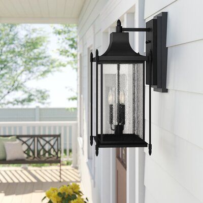 Abbott 3 Light Outdoor Wall Lantern | Joss & Main With Regard To Gillett Outdoor Wall Lanterns (View 4 of 20)