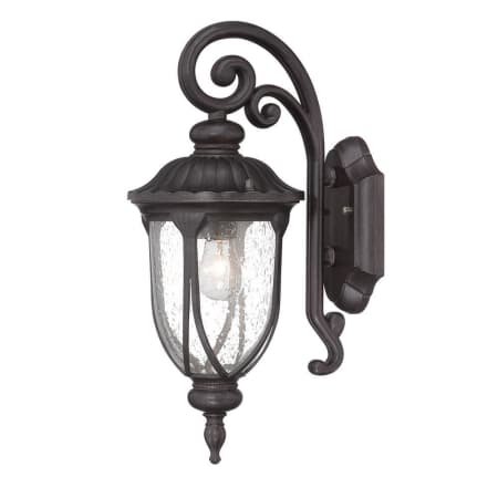 Popular Photo of Palma Black/clear Seeded Glass Outdoor Wall Lanterns