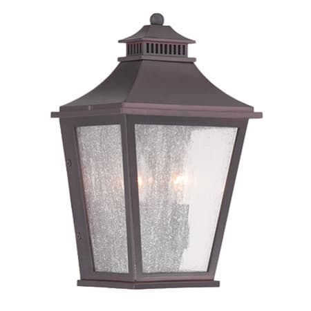Acclaim Lighting 32003abz Architectural Bronze Chapel Hill In Palma Black/clear Seeded Glass Outdoor Wall Lanterns (View 8 of 20)