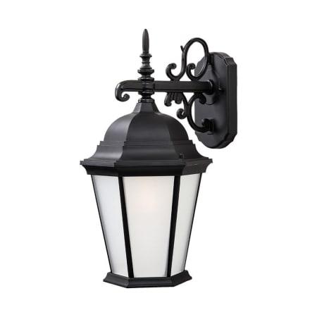 Acclaim Lighting 5202bk/fr Matte Black Richmond 1 Light Regarding Binegar Matte Black Outdoor Wall Lanterns (View 6 of 20)