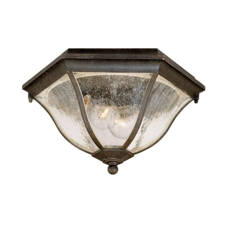 Acclaim Lighting 5615bc Black Coral Flushmounts 2 Light For Palma Black/clear Seeded Glass Outdoor Wall Lanterns (View 18 of 20)