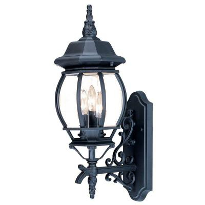 Acclaim Lighting Chateau 3 Head Matte Black Outdoor Intended For Keiki Matte Black Outdoor Wall Lanterns (View 11 of 20)