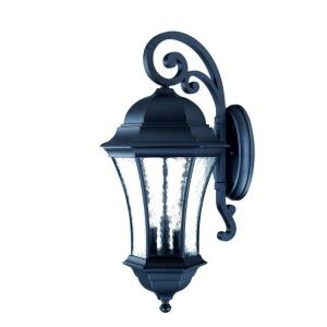 Acclaim Lighting Waverly Collection 3 Light Matte Black In Bensonhurst Matt Black Wall Lanterns (View 3 of 20)