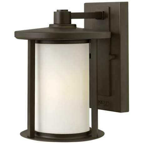 """Addison Park 12 1/2"""" High Bronze Outdoor Wall Light For Chicopee 2 – Bulb Glass Outdoor Wall Lanterns (View 17 of 20)"""