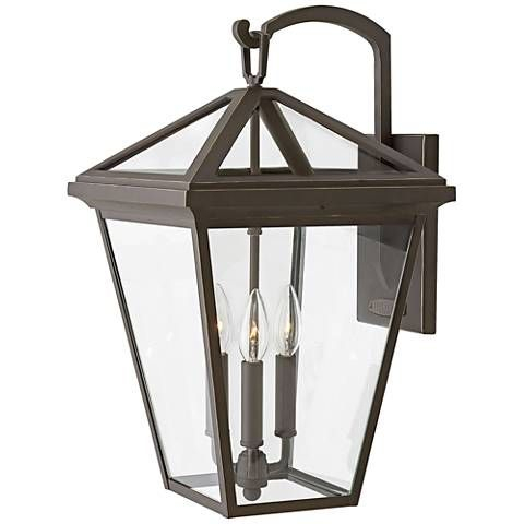 """Alford Place 20 1/2""""h Oil Rubbed Bronze Outdoor Wall Light In Chicopee 2 – Bulb Glass Outdoor Wall Lanterns (View 16 of 20)"""