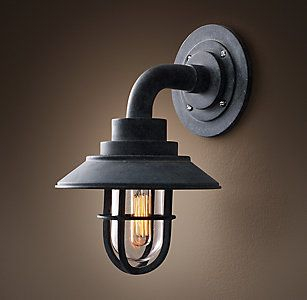 All Wall Lighting   Rh   Sconces, Wall Lights, Outdoor Inside Clarence Black Outdoor Wall Lanterns (View 17 of 20)