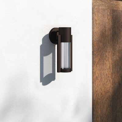 Allmodern Eddy 12'' H Integrated Led Glass Outdoor Armed Within Dedmon Outdoor Armed Sconces (View 17 of 20)