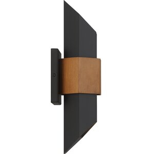 Allmodern Edmont Matte Black/brown Integrated Led Glass In Chazz Integrated Led Outdoor Armed Sconces (View 11 of 20)