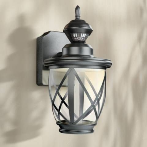 """Allure 13"""" High Black Led Motion Sensor Outdoor Wall Light In Ciotti Black Outdoor Wall Lanterns (View 13 of 20)"""