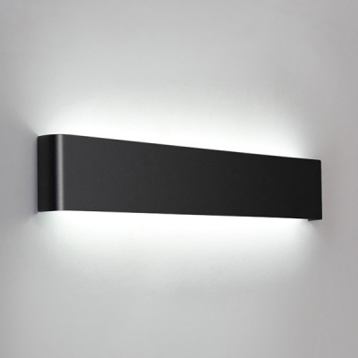 Art Deco Wall Light Black Finish Brushed Aluminum Led In Roden Black 3 Bulb Outdoor Wall Lanterns (View 13 of 20)
