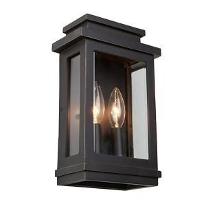 Artcraft 2 Light Oil Rubbed Bronze Outdoor Wall Lantern With Regard To Jordy Oil Rubbed Bronze Outdoor Wall Lanterns (View 11 of 20)