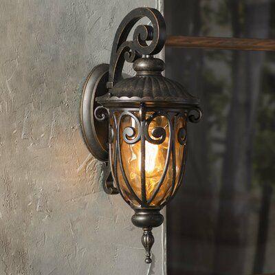 Astoria Grand Massey Oil Rubbed Bronze 1 – Bulb Outdoor In Jordy Oil Rubbed Bronze Outdoor Wall Lanterns (View 12 of 20)