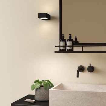 Astro Kappa Matt Black Bathroom Led Wall Light (1151004 With Regard To Bensonhurst Matt Black Wall Lanterns (View 8 of 20)