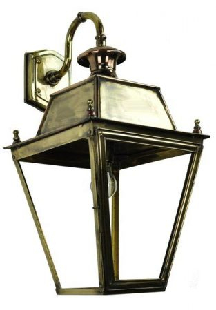 Balmoral Large Brass Replica Victorian Downward Outdoor Inside Clarence Black Outdoor Wall Lanterns (View 11 of 20)
