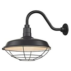 Barn Light Outdoor Wall Light Black With Gooseneck Arm 16 With Regard To Aleena Outdoor Barn Lights (View 5 of 20)