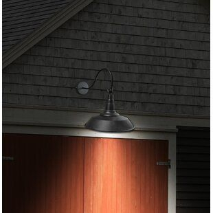 Barn Light Solar Powered Outdoor Wall Lighting You'll Love With Regard To Lainey Outdoor Barn Lights (View 18 of 20)