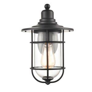 Beachcrest Home Abernethy Outdoor Barn Light & Reviews For Abernethy Outdoor Wall Lanterns (View 9 of 20)