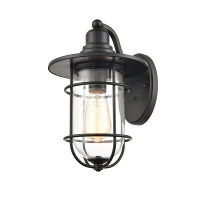Beachcrest Home Abernethy Outdoor Barn Light & Reviews Regarding Abernethy Outdoor Wall Lanterns (View 7 of 20)