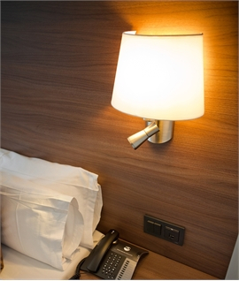 Bedside Light In Bronze With Shade Diffuser And Led With Regard To Ainsworth Earth Black Outdoor Wall Lanterns (View 5 of 20)