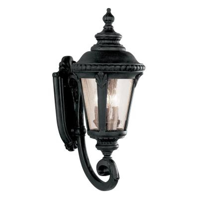 Bel Air Lighting Commons 1 Light Black Outdoor Wall Within Meunier Glass Outdoor Wall Lanterns (View 7 of 20)